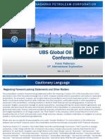 Andarko Petroleum UBS 2013 Global O&G Conference Presentation