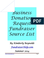 Business Donation Request Fundraiser Source List