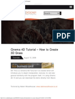 Cinema 4D Tutorial - How to Create 3D Grass - You the Designer