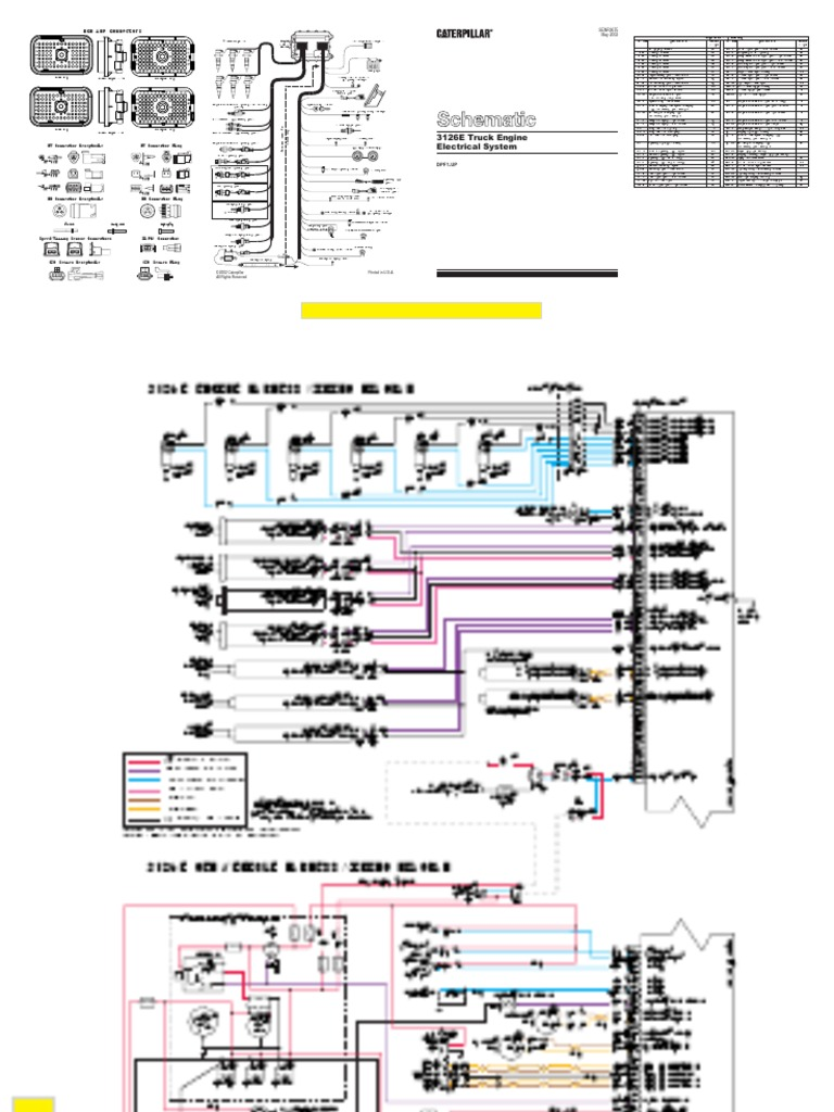3126E Wiring Schmatic | Throttle | Turbocharger on