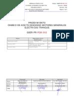 GSER-PR-PEM002 Cambio Aceite Lubricacion Descansos Motores Tranque