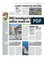 ONU Investigará La Ofensiva Militar Israelí en Gaza