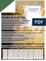 Vendor & Craft Fair - A Rocky Glen Fundraiser