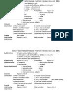 Portion Formative 2 LKG Session 2014-15