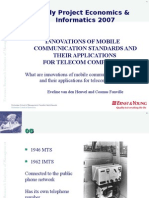 Innovations of mobile communication standards and their applications for telecom companies