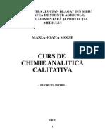 Curs - Chimie Analitica Calitativa