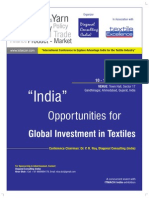 India - Opportunities for Global Investment in Textiles