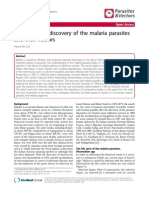 History of the Discovery of the Malaria Parasites and Their Vectors