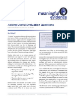 Asking Useful Evaluation Questions