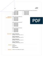 functional resume green orange