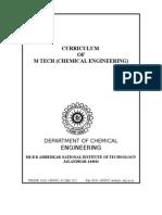 M.tech Chemical Engg Syllabus