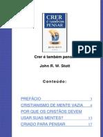 John Stott - Crer é Também Pensar