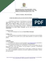 Edital n 22 de Gestao Publica Municipal