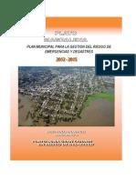 Plan Municipal Para La Gestion Del Riesgo de Emergencias y Desastres