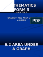 Math(F5)-Gradient and Area Under a Graph 6.2