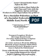 Posters for Palestine Solidarity Actions