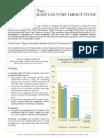 Peace Corps Togo Study Summary