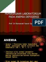 Pem. Lab Pada Anemia Defisiensi-kuliah Pakar Prof Rismawati