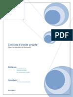Rapport-gestion École Privé