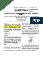 2011 INTERDICIPLINAR COMUNICAÇÃO e SOCIOLOGIA Implicacoes Transmidiaticas Do Uso Do RPG e Do Wargame