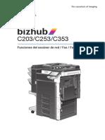 Bizhub c203 c253 c353 Networkscanner Fax Networkfax 2-1-1 Es