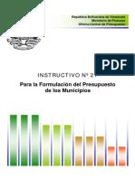 2000 Instructivo21 OCEPRE Formulacion Del Presupuesto de Los Municipios