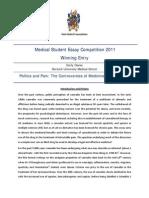 Pr f Winning Essay 2011
