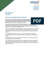 Azzure IT wins global Microsoft award
