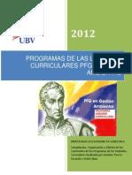 Compilación de Contenidos Programáticos PFGGA
