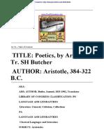 Aristotle-The Poetics