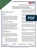 Automatic Transmission Flush Procedure
