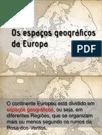 Espaços Geográficos Da Europa