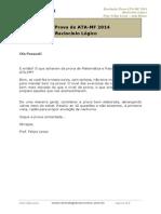 Prof. Felipe Lessa. Resolução Prova RLQ ATA 2014