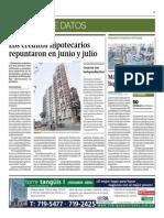 Créditos Hipotecarios Repuntaron en Junio y Julio_Gestión 24-07-2014
