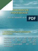 PRESSUPOSTOS PROCESSUIAS