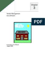 Vendor Management User Manual