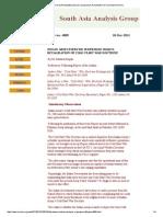 2004 India Cold Start Indian Army Exercise Sudershan Shakti Revalidation of Cold Start War Doctrine (KAPILA 2011)
