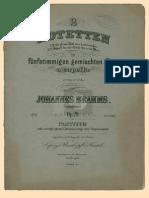 Motet of Johannes Brahms