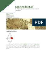 Atlas de Rocas Ígneas