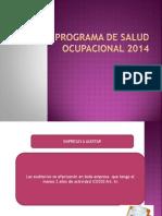 Programa de Salud Ocupacional 2014