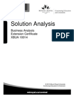 Solution Analysis