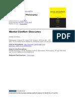Mental Conflict. Descartes