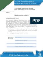 Actividad de Aprendizaje Unidad 4 Calidad Enfocada Al Cliente - Andrea Enriquez