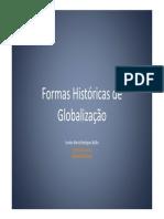 Formas Historicas de Globalizacao