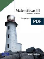 Matemáticas III, Geometría Analítica-René Jiménez