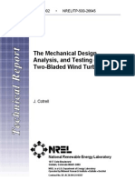 NREL-General Mechanical Design of 2 Blade Turbine Hub
