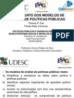 Políticas Públicas_Mapeamento Dos Modelos de Análise_Prof Viviane Regina Da Silva