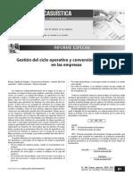 Gestión Del Ciclo Operativo y Conversión de Efectivo en Las Empresas