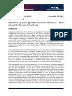 New Guidelines for Short Sales. HAMP Supplemental Directive 09-09