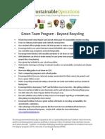 School GreenTeams Beyond Recycling Flyer